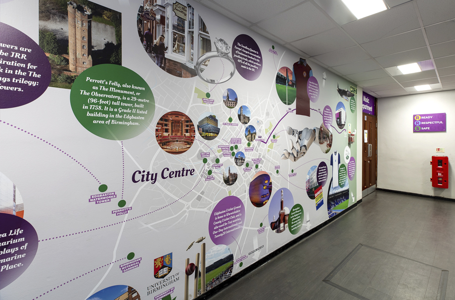 Local area map wall