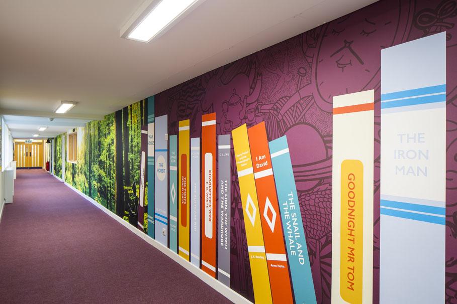 Library Corridor Art