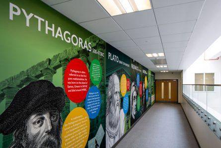 Alperton Maths feature wall art mural