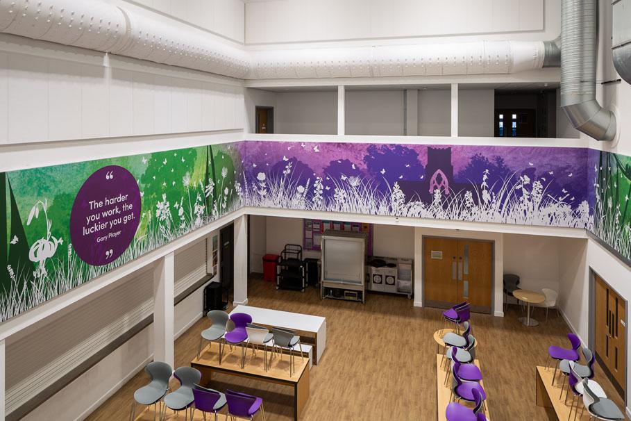 Chertsey High School Canteen Wall Art