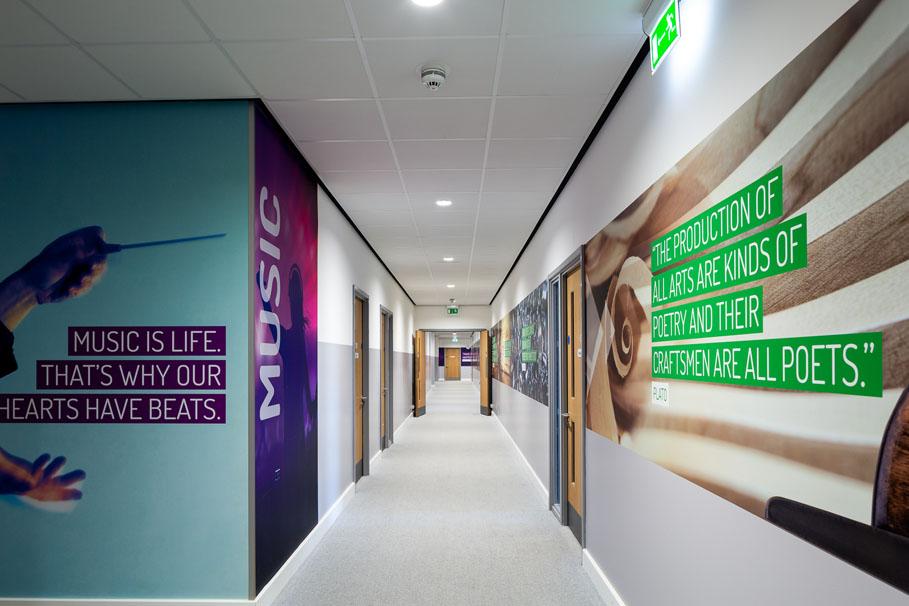 secondary school wall art chertsey