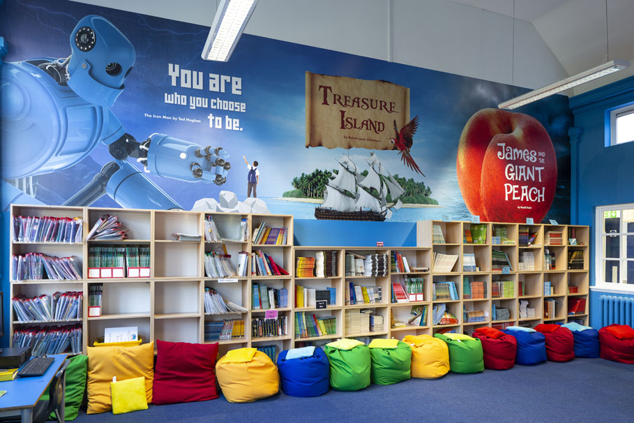 Thomas Arnold Primary School Library Wall Art
