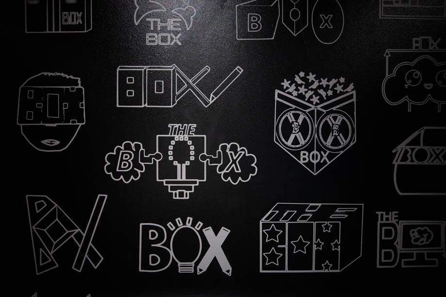 Graphics using the word 'box'