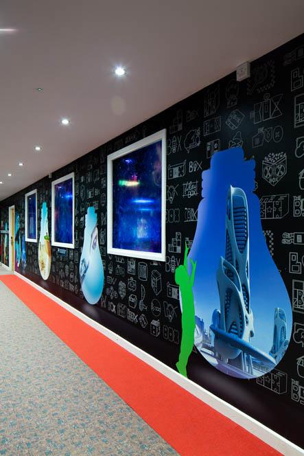 hazelwood wall art corridor