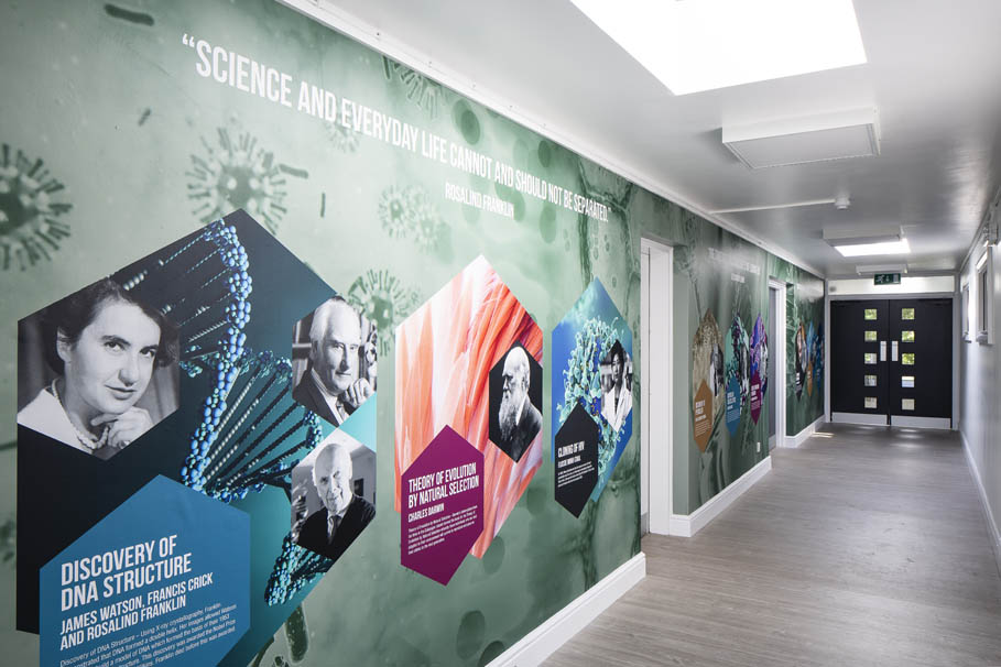 Bloxham School -  Science and Maths corridor walls
