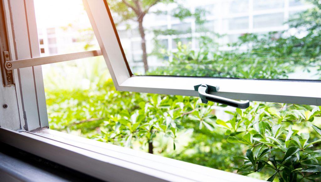 self-isloation wellbeing open window