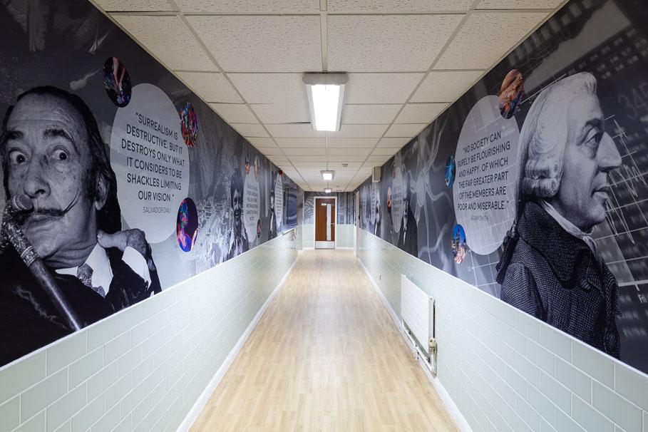 Bishop Challoner School - Sixth Form Corridors