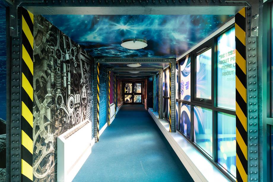 Howard Junior corridor wall art
