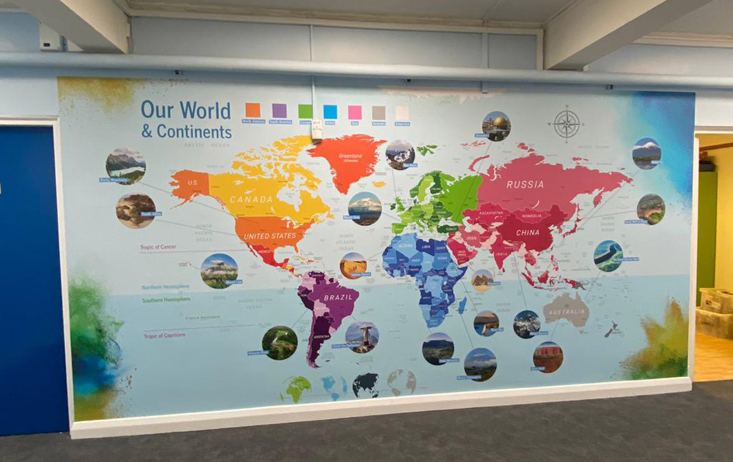 Balliol Primary School - world map