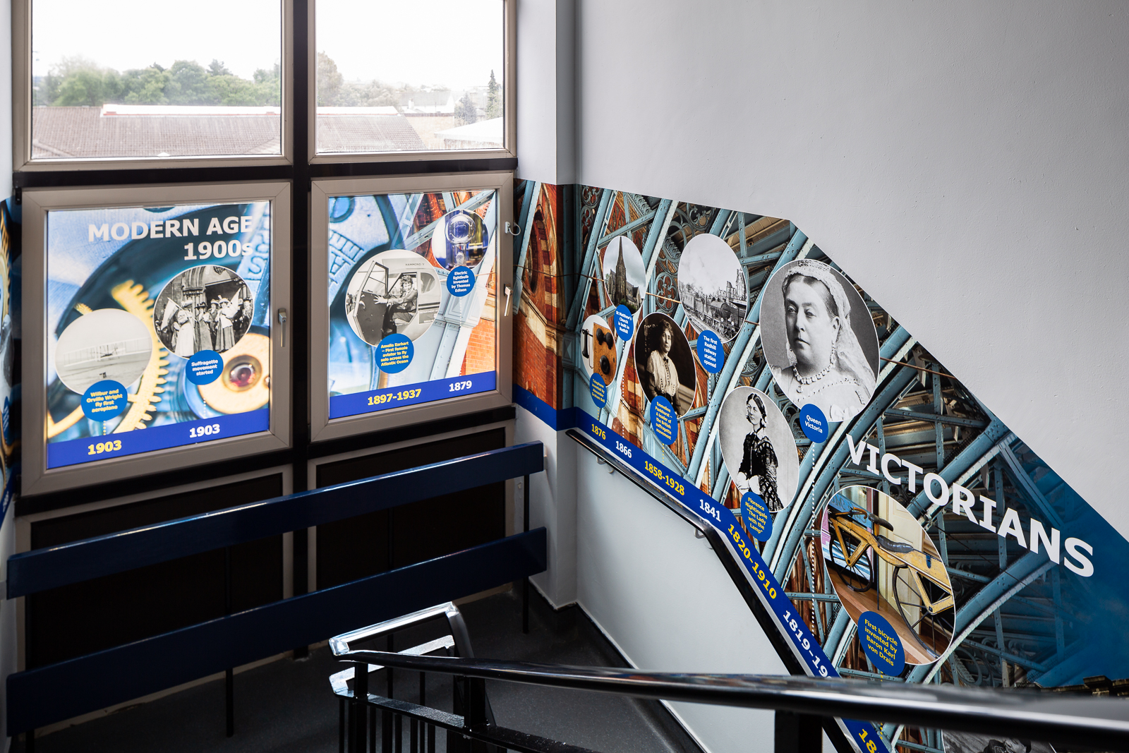 History timeline school wall art