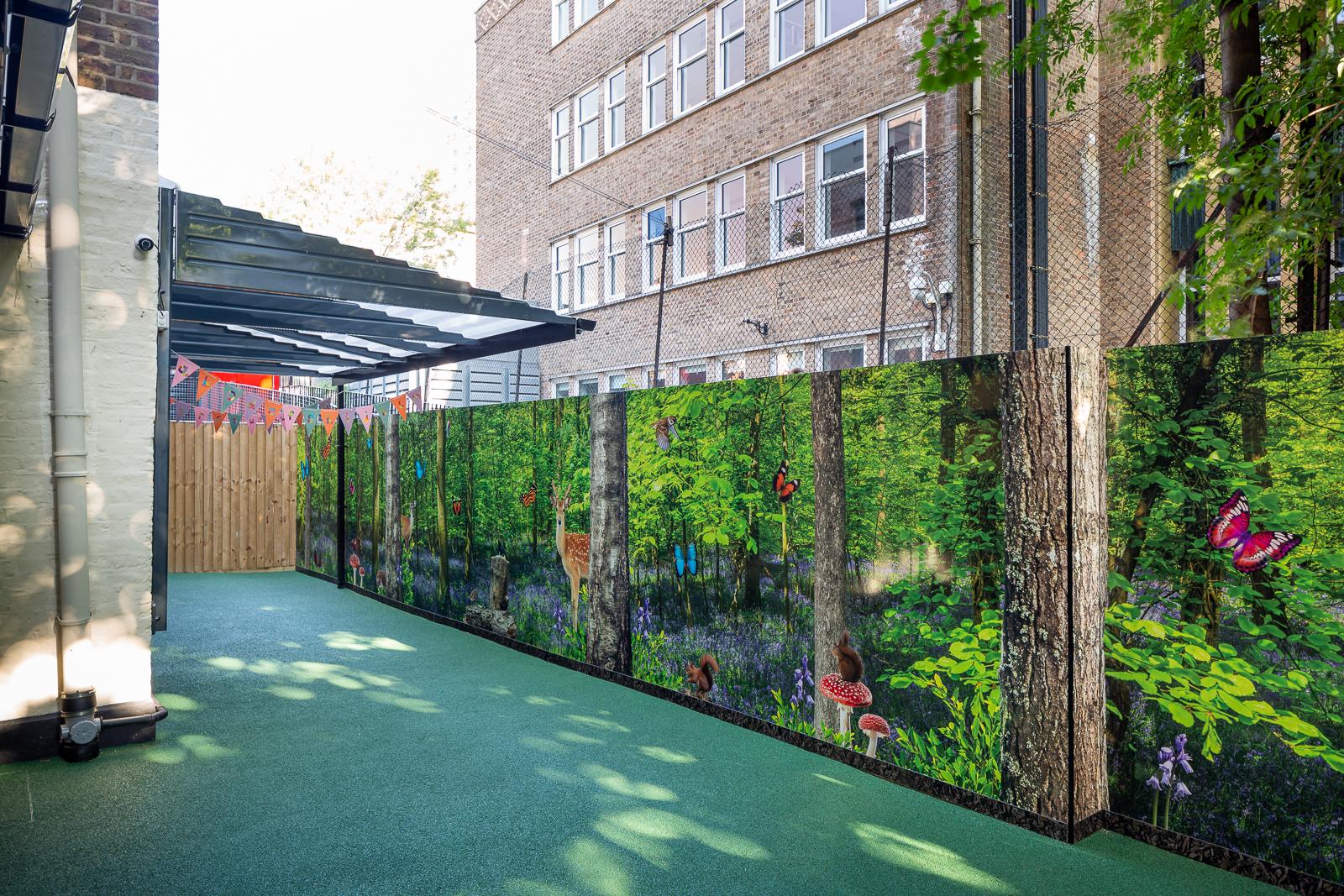 Image iof external wall art design for nursery
