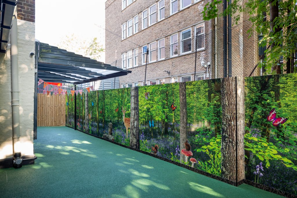 Outdoor learning space one world
