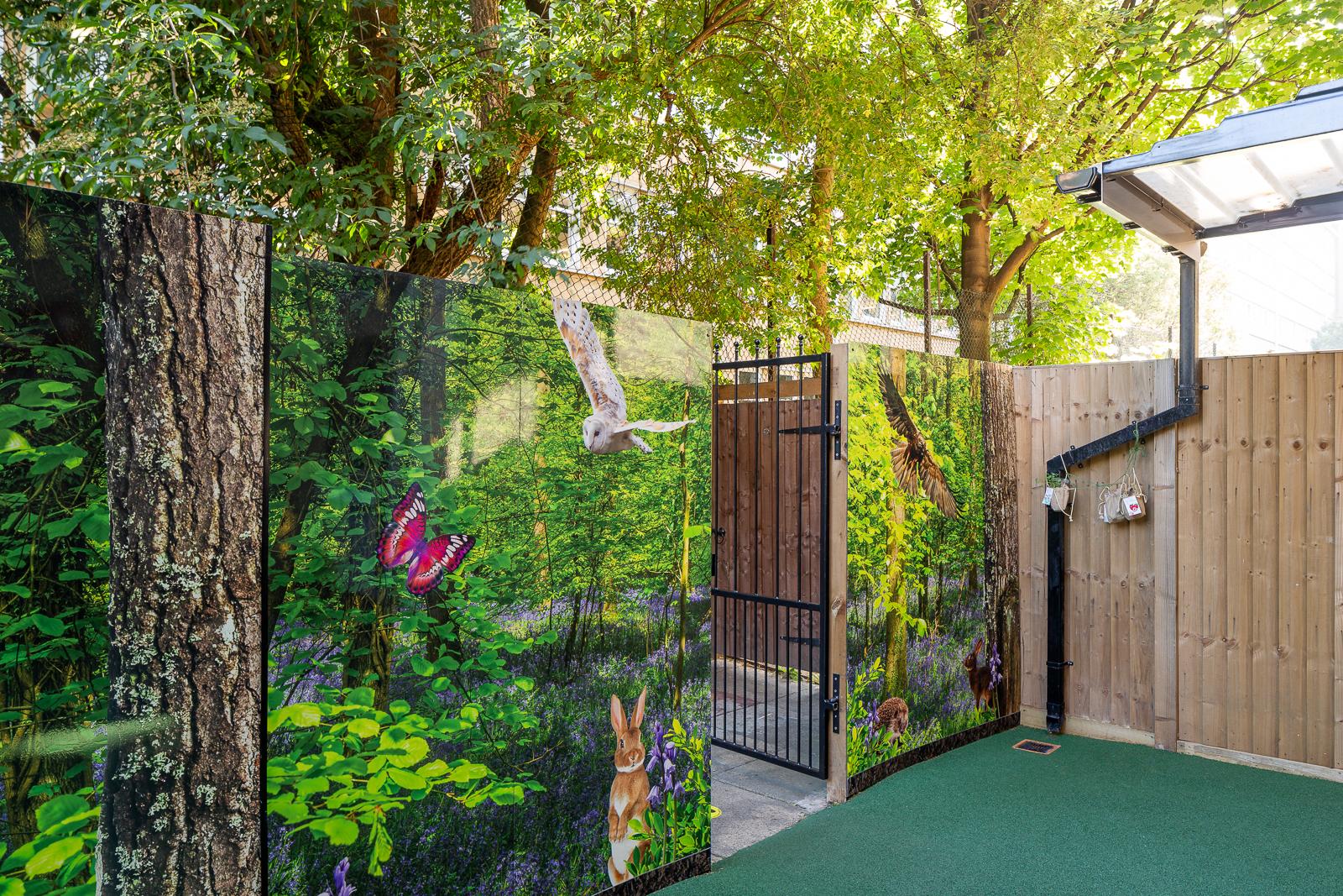 external play area wall art