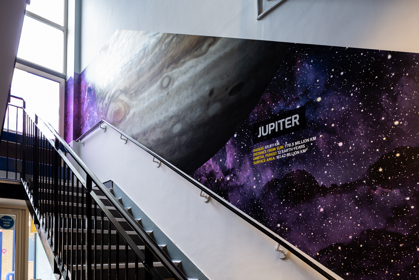 image of school stairway wall art
