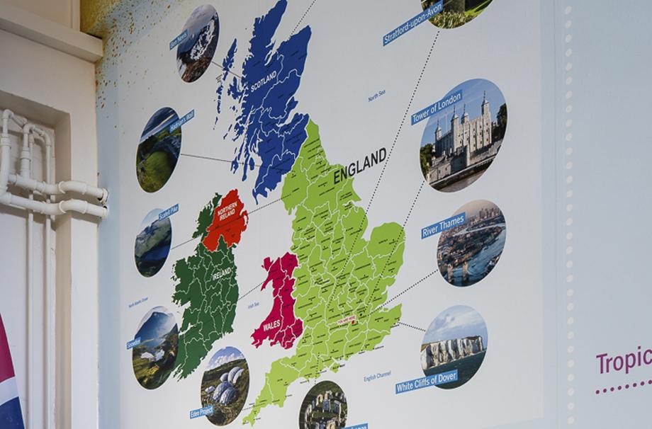 Map Of UK School Wall Art