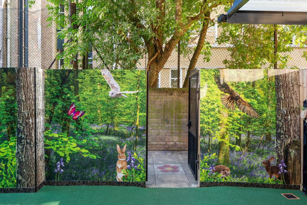 outdoor wall art for schools