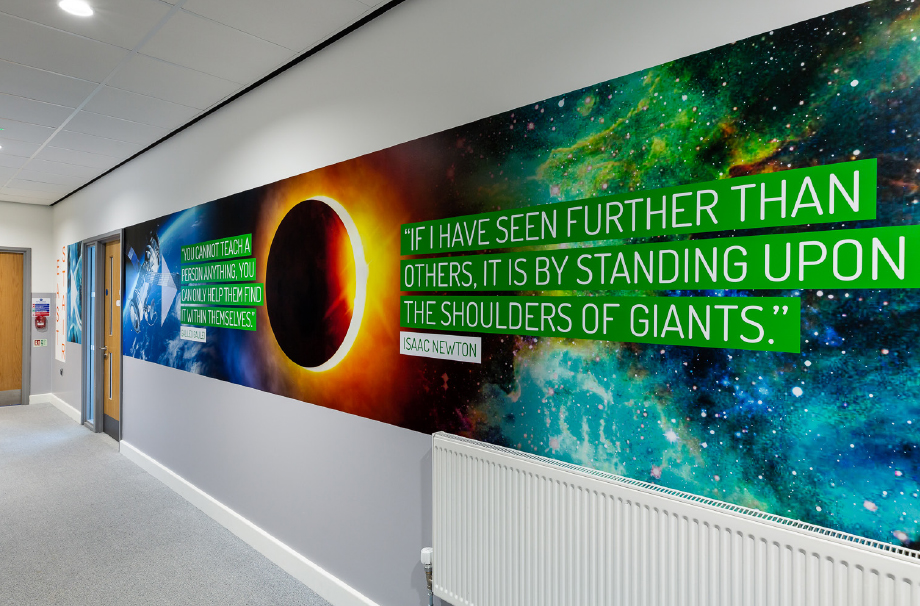 Chertsey wall art for secondary schools