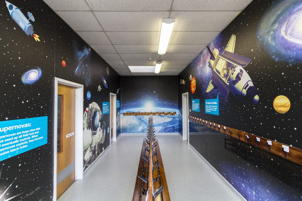 space theme wall art
